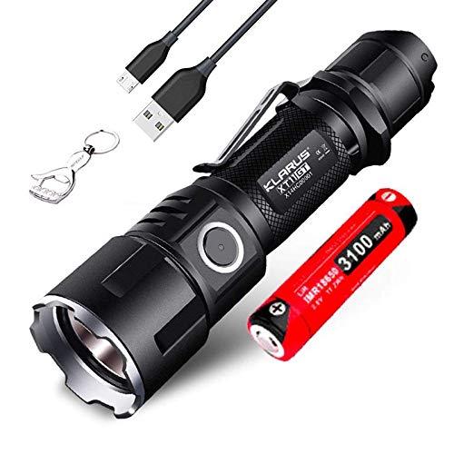 Klarus xt11gt es Klarus xt11s actualizado versión Cree xhp35 HD E4 2000 lúmenes USB recargable linterna LED linterna táctica
