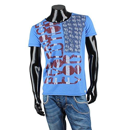 REDBRIDGE BY CIPO & BAXX Herren Kurzarm T-Shirt Blau