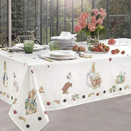 Tovaglia da tavola senza tovaglioli in panama di cotone 100% stampa digitale Vallesusa Casa art. May dis. 18995 (150x220 rett. x 8)