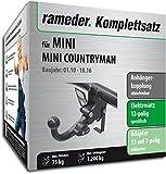Rameder Komplettsatz, Anhängerkupplung abnehmbar + 13pol Elektrik für Mini Mini Countryman (145198-08981-1)