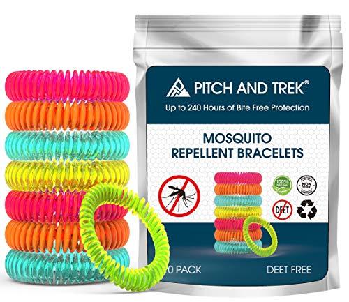 Mückenschutz Armband (10 Stück) | Anti Mücken Mosquito Repellent mit Citronella | Natürliche zuverlässige Mückenabwehr für Reise
