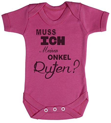 TRS - Muss ich Meinen Onkel Rufen? Baby Bodys / Strampler 0-3 Monate Rosa
