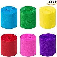 Crepe Artesanía de Papel Streamers Decoraciones Colgantes Para Varios Fiesta de Cumpleaños Fiesta de Boda Decoraciones del Partido 6 Colores (12 Rollos)