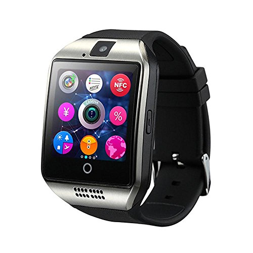 Q18 Smart Watch, Touch Screen Orologio da Polso con Telecamera SIM/TF Card Slot, Sport Fitness Tracker Smartwatch per iOS Smartphone Android