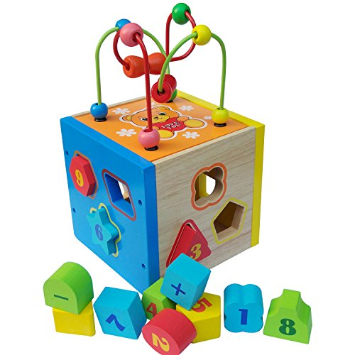 Wooden Play Toys : Wooden shape sorter toy and maths learning toys