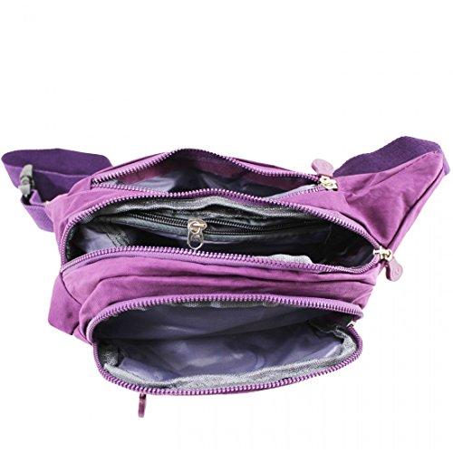 Venta nuevo Unisex bolsa de cintura viajes vacaciones dinero bolsa bolsa de cadera cintura bolsa de viaje Varios colores, negro
