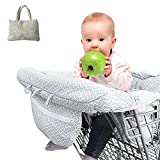 Shopping Cart Cover, Luerme High Chair Cover Ultra Plush Seat Pad, 100 Percent Cotton Upper, Full Safety Harness, Machine Washable for Baby Toddler