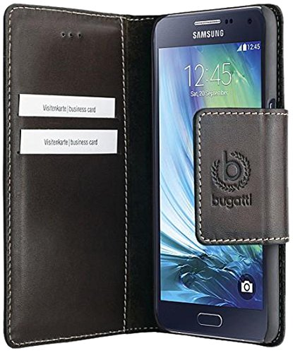 Preisvergleich Produktbild Bugatti Amsterdam Buch Hülle für Samsung Galaxy A5 vintage braun