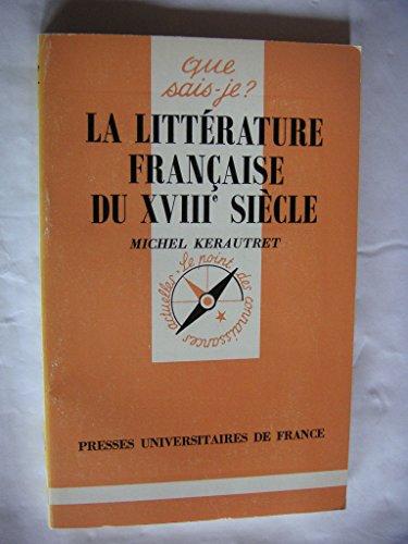 La littérature française du XVIIIe siècle