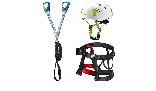 Klettersteigset Zusammenbauen : Camp klettersteigset vortex rewind pro gurt lacd easy ferrata