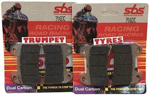 Aprilia Smv 750 Dorsoduro 2008 08 SBS Performance Anteriore Carbonio Doppio Corsa Corsa Pastiglie Freno Set Qualità Originale OE 706D