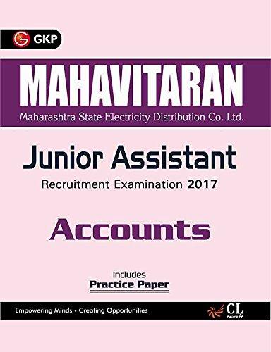 Mahavitaran (Maharashtra State Electricity Distribution Co. Ltd.) Junior Assistant, Accounts 2017