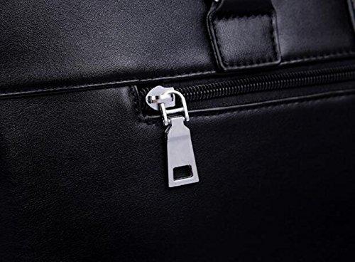 Männer Handtasche Ledertasche Computer Fall Freizeit Großer Kapuze Aktentasche Umhängetasche Brown1
