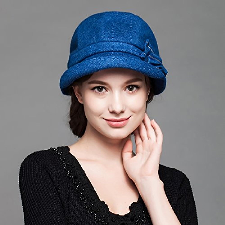 Cappello da Donna Winter Fashion Cappelli di Lana Elegante British ed  Elegante Lana Cappello da Bagno Coreano Cappelli (Coloreee... 379663 3819d668437b