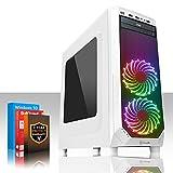 Fierce Medusa 8Go RGB/RVB PC Gamer - Vite 4GHz Quad-Core Intel Core i7 4790, 1To Disque Dur, 8Go of 1600MHz DDR3 RAM / Mémoire, NVIDIA GeForce GTX 1050 Ti 4Go, ASUS H81M-P PLUS Carte Mère, GameMax Prism White Boite D'ordinateur/RGB/RVB Fans, HDMI, USB3, Wi - Fi, Parfait pour un jeu compétitif, Windows 10 installé, 3 Ans De Garantie 236867