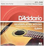 D'Addario EJ84M Gypsy Jazz Nylonsaiten Medium 011' - 045' Loopend