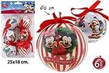 Disney Mickey & Minnie Mouse Weihnachtskugeln 6 Tlg. Weihnachtsbaumschmuck Ø6cm
