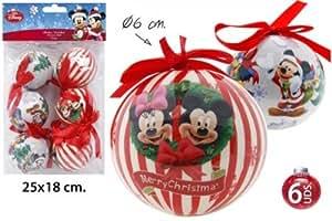 Disney mickey minnie mouse weihnachtskugeln 6 tlg weihnachtsbaumschmuck 6cm - Disney weihnachtskugeln ...