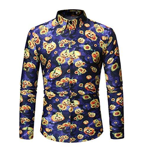 Country Musik Halloween Kostüm - GOKOMO Halloween Neue gedruckte Hemden Arbeiten