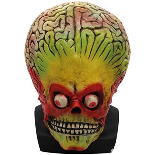 S+S Unheimlich Maske, Alien Kopf Und Hals Voller Kopf Unheimlich Biohazard Monster Latexmaske Halloween Kostüm Party Ball Gruselig Horror Requisiten - Fehler Code Kostüm