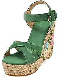 RAZAMAZA Mujer Plataforma Tacon Alto Sandalias  Zapatos de moda en línea Obtenga el mejor descuento de venta caliente-Descuento más grande