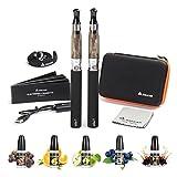 Salcar® Upgrade Version eGo-T CE4 E-Zigarette im Doppel-Starterset und Premium E-liquid 5x 10ml 0