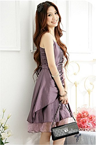 PLAER femmes Svelte robe soirée de fête robe cocktail sexy robe gris-violet