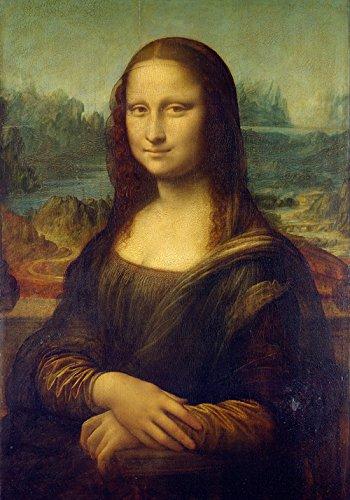 GIOCONDA LA MONNALISA Leonardo da Vinci-70 x 100 cm-Póster decorativo-Falso de autor