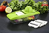 Bagonia® Mandoline Vegetable Slicer, Food Slicer and Fruit Cutter - with 5 Interchangeable Sharp Blades, Safety Hand guard, Butting Board, Blades box and Easy Food Container