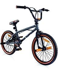 "Bicicletas BMX MBM U-N+O acero 20 ""1S (Matt Smoke/Orange)"