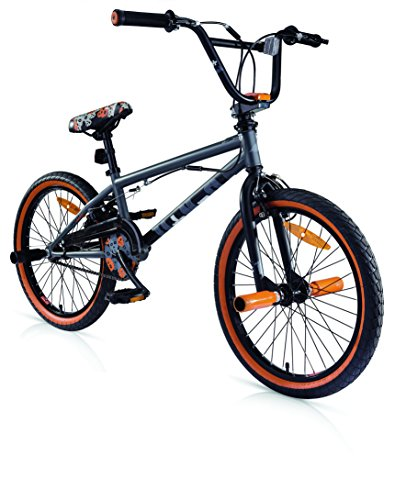 BICICLETAS BMX MBM U N+O ACERO 20 1S (MATT SMOKE/ORANGE)