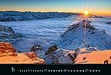 Faszination Alpen 2019: Großer Foto-Wandkalender mit Bildern von Gipfeln der Alpen - Edler schwarzer Hintergrund und Foliendeckblatt - PhotoArt Panorama Querformat: 58x39 cm -