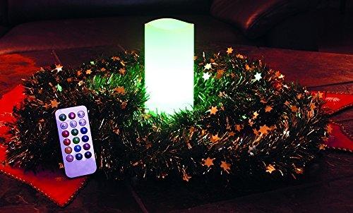 Chilitec LED vela de cera real con Cambio de color & amp; Mando a distancia - Grande 15 cm