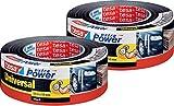 2 Rollen tesa Reparaturband extra Power Universal, schwarz, 50m x 50mm