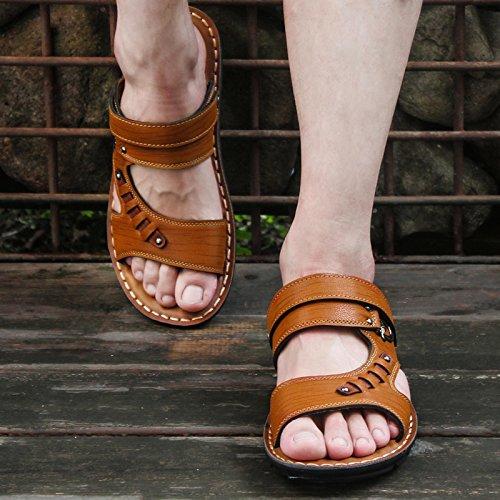 @Sandals Sommer, Herrenschuhe, Herren, Koreanisch, Sandaletten, 42, Hellgelb - Schönes Schuhe Wrestling