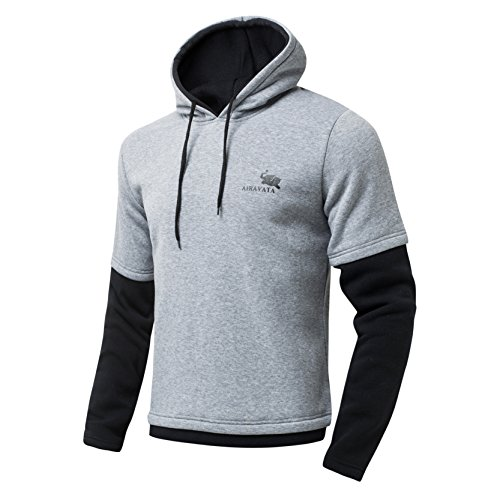 Luft-Swoosh Pullover Hoody Gefälschte Zwei Stück Sweatshirt Hoodie Für Mann L