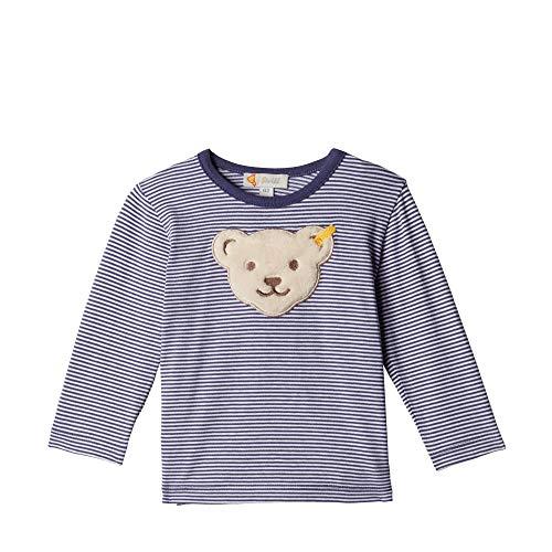 T-Shirt langarm gestreift mit großem Teddybär, Blau (Patriot Blue 6033), Gr. 68