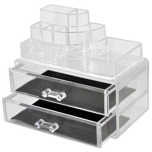 Maquillage Organiseur à maquillage en acrylique transparent