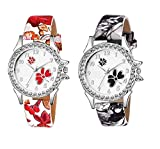 Watch City Jay Enterprise Analogue Multicolour Dial Girl's and Women's Watch -Combo of 2