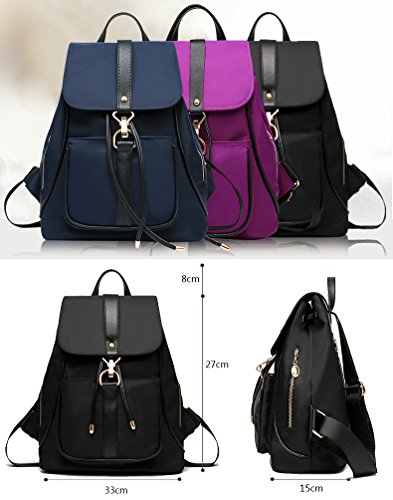 Yokeeyoo, Borsa a zainetto donna viola Purple Misura unica Purple