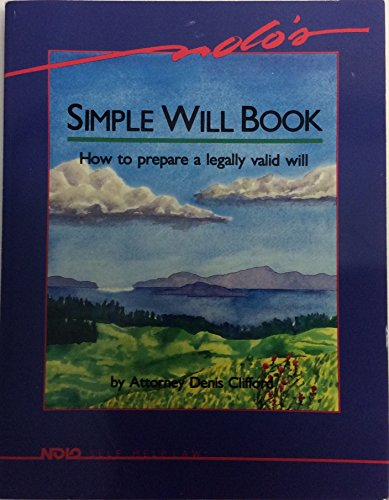 Nolo's Simple Will Book: How to Prepare a Legally Valid Will