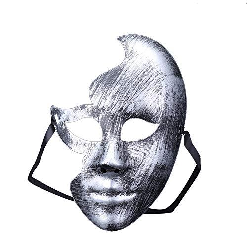 Hacoly Anonymous Masken Halbes Gesicht Retro Maskenball Maske Venetianische Maske Cosplay Mask Frau Augen Maske Halloween Karneval Maskentanzabend Party-Silber 1