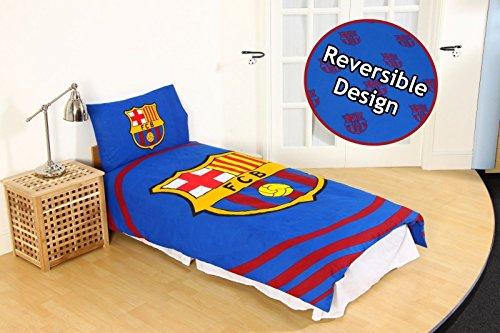 Offizielles Barcelona Football Club Steppdecke FCB Bett Set Single Double Camp Nou, Barcelona - Pulse Duvet, Einzelbett (Barcelona-geschenk-set)