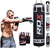 RDX Heavy Boxing 4FT/5FT Punch Bag Filled MMA Punching Bags Training Gloves KickBoxing