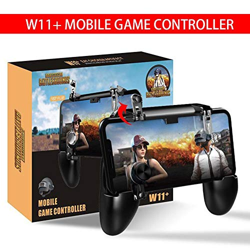 QueenHome Wireless Android Controller, W11 + 4-in-1 Multifunktions-Game-Controller für Android-Handy H5 Kühlung Game Griff für PUBG Mobile Artefakt Game Assistant Key Griff