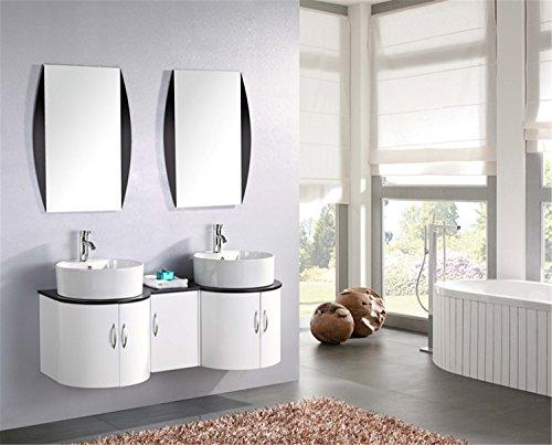 Mobile bagno arredo bagno completo modello tiger 138 cm doppio lavabo rubinetti inclusi
