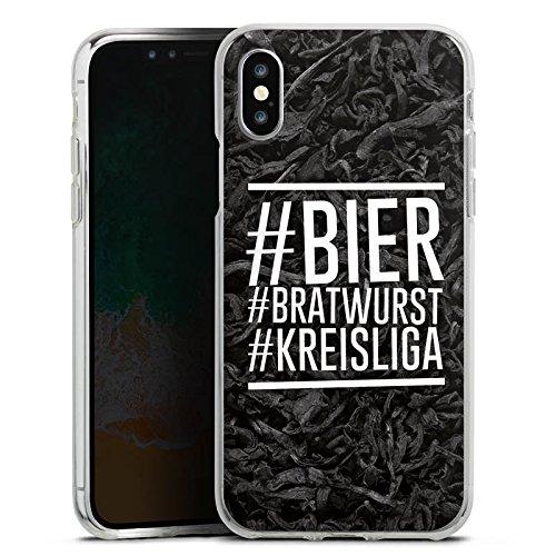 DeinDesign Apple iPhone X Silikon Hülle Case Schutzhülle Bier Beer Bratwurst