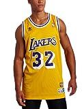 adidas NBA Los Angeles Lakers Magic Johnson Swingman Jersey, Gold, Large