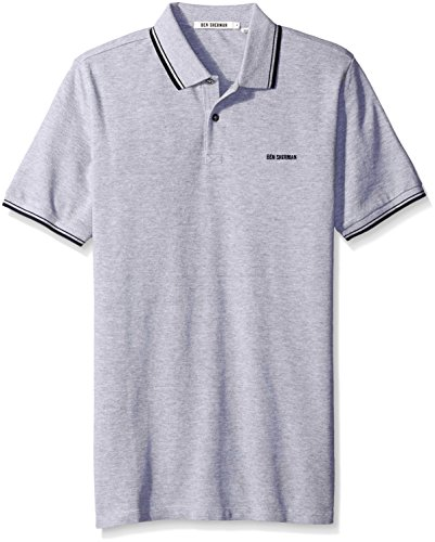 ben-sherman-mc11485-polo-manches-courtes-homme-gris-oxford-marl-f18-xx-large-taille-fabricant-xxl