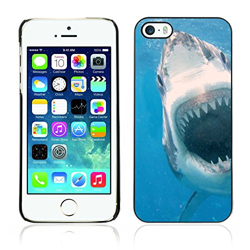 Graphic4You Hai Tier Design Harte Hülle Case Tasche Schutzhülle für Apple iPhone 5 und 5S Design #1